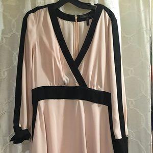 Pink/black bcbg long sleeve dress.